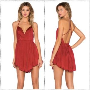 NBD Revolve Party Girl mini dress berry NYE